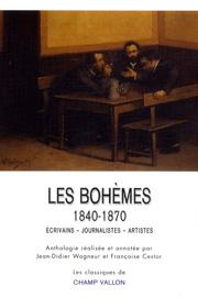 Bohèmes (Les) – Jean-Didier Wagneur et Françoise Cestor 2012