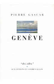 Genève – Pierre Gascar 1984
