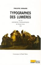 Typographes des Lumières – Philippe Minard 1989