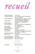 Revue Recueil – n°11 (1989)