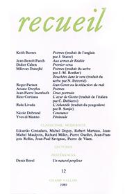 Revue Recueil, numéro 12, éditions Champ Vallon
