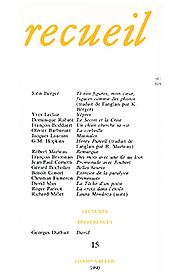 Revue Recueil – n°15 (1990)