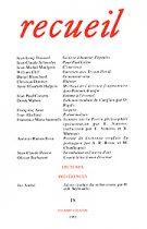 Revue Recueil – n°18 (1991)