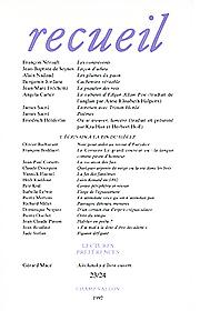 Revue Recueil – n°23/24 – L'écrivain à la fin du siècle (1992)