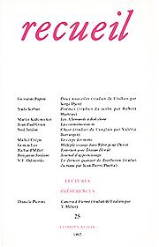 Revue Recueil – n°25 (1992)