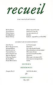 Revue Recueil – n°27 – Littérature et enseignement (1993)