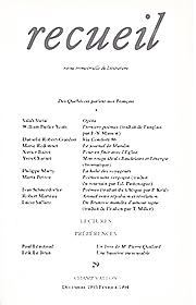 Revue Recueil – n°29 – Des québécois parlent aux français (décembre 1993 – janvier 1994)