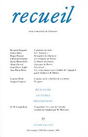 Revue Recueil – n°32 (septembre – novembre 1994)