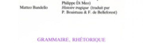 Revue Recueil – n°6 – Grammaire, rhétorique (1987)