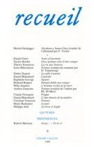 Revue Recueil – n°9 (1988)