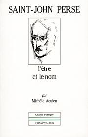 Saint-John Perse – Michèle Aquien 1985