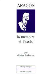 Aragon – Olivier Barbarant 1997