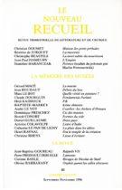 Le Nouveau Recueil – n°40 – La mémoire des musées – septembre-novembre 1996