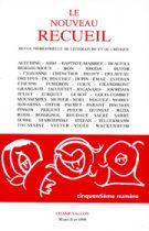 Le Nouveau Recueil – n°50 – Numéro anniversaire – mars/juin 1999