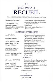 Le Nouveau Recueil – n°51 – La Suisse d'ailleurs – juin-août 1999