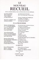 Le Nouveau Recueil – n°54 – À la frontière – mars/mai 2000