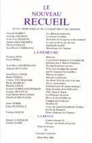 Le Nouveau Recueil – n°58 – La demeure – mars/mai 2001