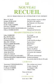 Le Nouveau Recueil – n°59 – Traduction en cours – juin/août 2001