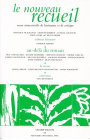 Le Nouveau Recueil – n°64 – Au-delà du roman – septembre/novembre 2002