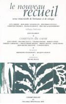 Le Nouveau Recueil – n°65 – Courriers du coeur – décembre 2002/février 2003