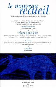 Le Nouveau Recueil – n°67 – Rêver peut-être – juin/août 2003