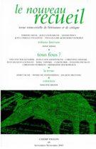 Le Nouveau Recueil – n°68 – Tous fous ? – septembre/novembre 2003