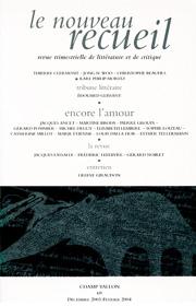 Le Nouveau Recueil – n°69 – Encore l'amour ? – décembre 2003/février 2004