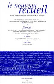 Le Nouveau Recueil – n°71 – Grèces – juin/août 2004