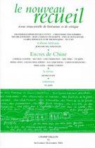 Le Nouveau Recueil – n°72 – Encres de Chine – septembre/novembre 2004
