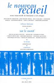 Le Nouveau Recueil – n°75 – Sur le motif – juin/août 2005