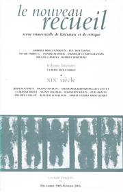 Le Nouveau Recueil – n°77 – XIXe Siècle – novembre 2005/février 2006