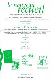 Le Nouveau Recueil – n°80 – Le souci de la beauté – septembre/novembre 2006
