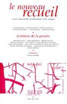 Le Nouveau Recueil – n°82 – Écritures de la pensée – mars/mai 2007
