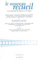 Le Nouveau Recueil – n°83 – La poésie, encore… – juin/août 2007