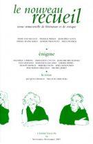 Le Nouveau Recueil – n°84 – Énigme – septembre/novembre 2007