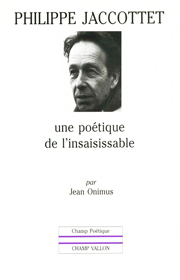 Philippe Jaccottet – Jean Onimus 1982