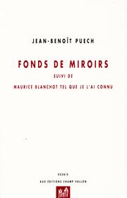 Fonds de miroirs – Jean-Benoît Puech 2015