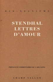 Lettres d'amour – Stendhal 1991