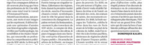 L'Œil blessé dans Libération par Dominique Kalifa