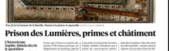 La prison parisienne au XVIIe siècle de Sophie Abdela dans Libération