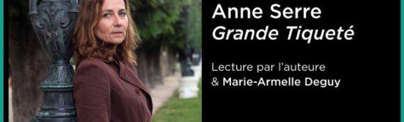 Anne Serre à la Maison de la poésie